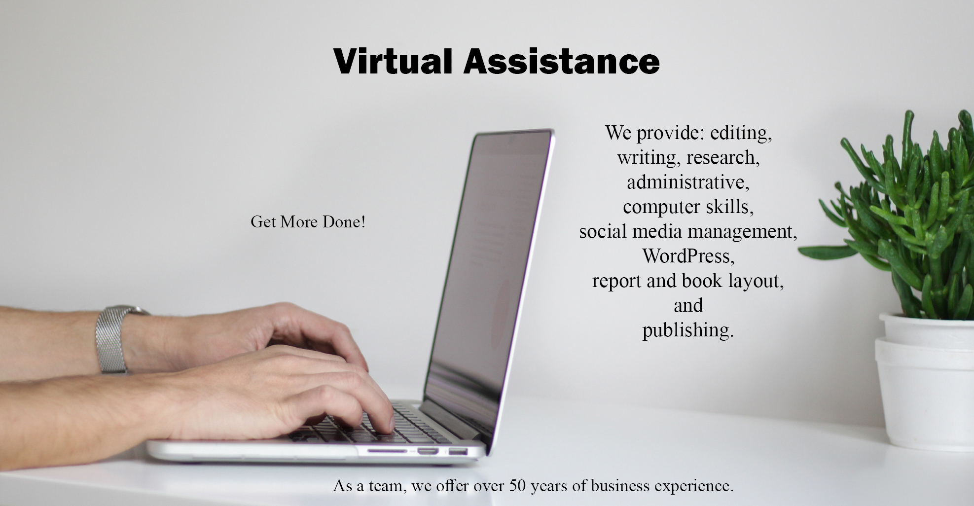 Virtual Assistance Graphic