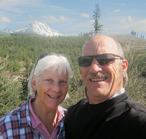 Betsy and Mark in Washington State